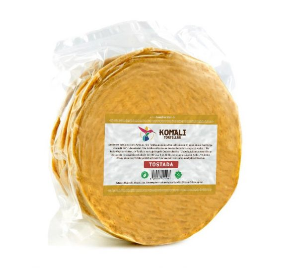 Komali Corn Tortilla for Frying (Tostada), 15cm, 500g (35pcs)