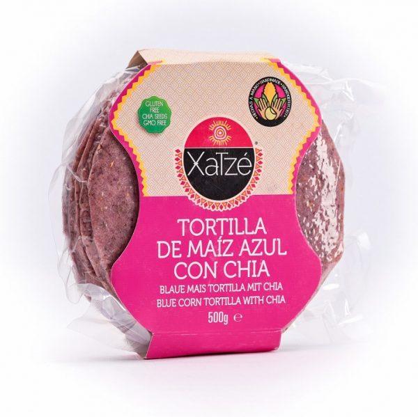 Xatze, 14cm Blue Corn Tortilla with Chia, 250g (Bag)
