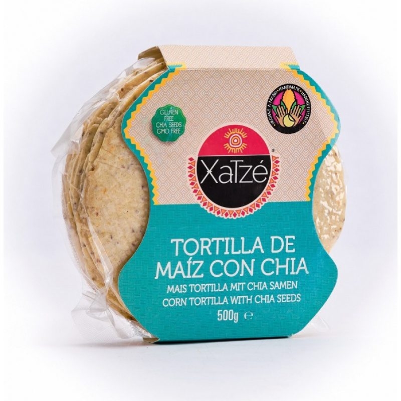 Xatze, 14cm Corn Tortilla with Chia, 250g (Bag)