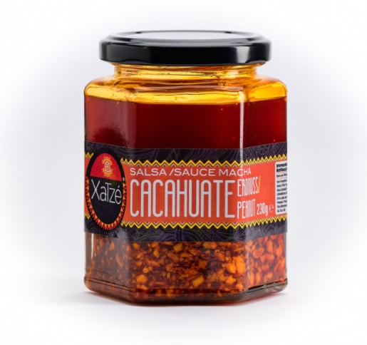 Xatze, Salsa Macha Cacahuate [Peanuts], 230g (Glass)