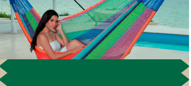 Hammock with a woman in it