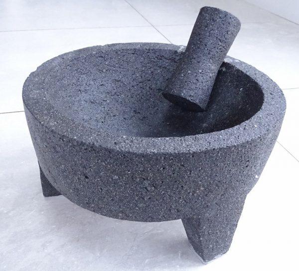 Molcajete (Mortar and Pestle), Volcanic Stone, OD=31.5cm
