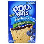 Pop Tarts, Unfrosted, Blueberry, 8 Units, 384g Net Weight